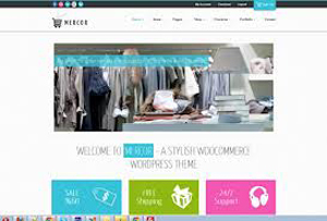 Mercor ecommerce theme online boutique store wordpress